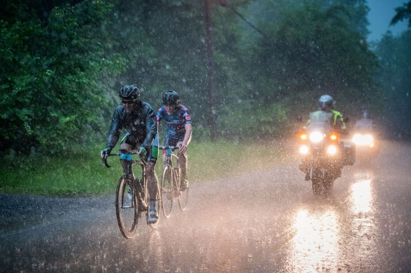 rain cycling race fondo